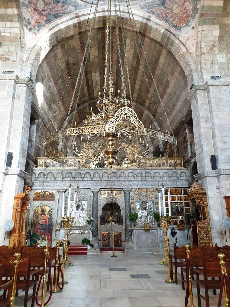 inside Panagia Ekatontapyliani Church Paros Island Greece