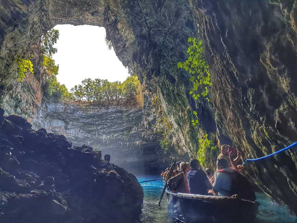 Melissani Cave - Caves in Kefalonia Greece