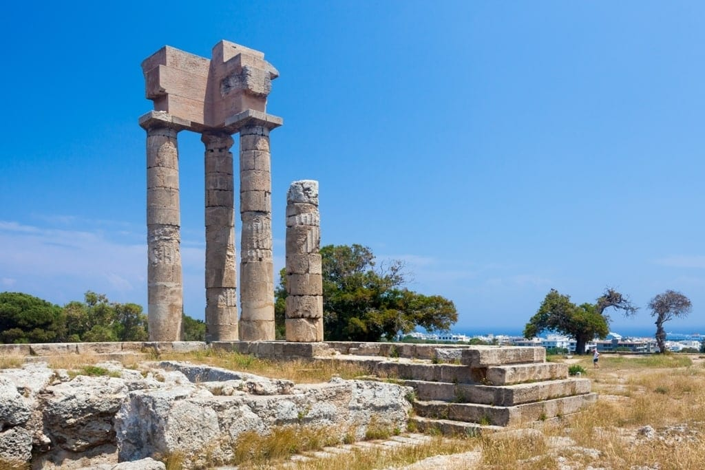 Acropolis of Rhodes in Monte Smith Hill